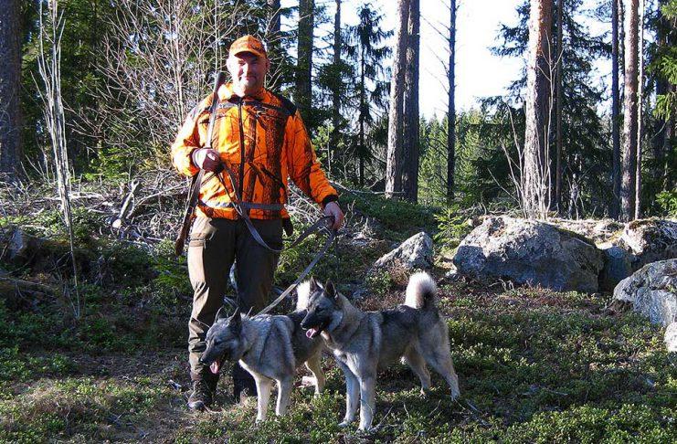 Lars-Erik Backlund jaga in Gråhund