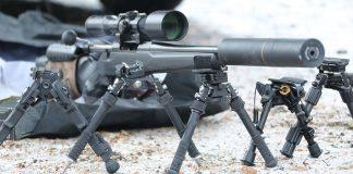 Test låga benstöd för gevär